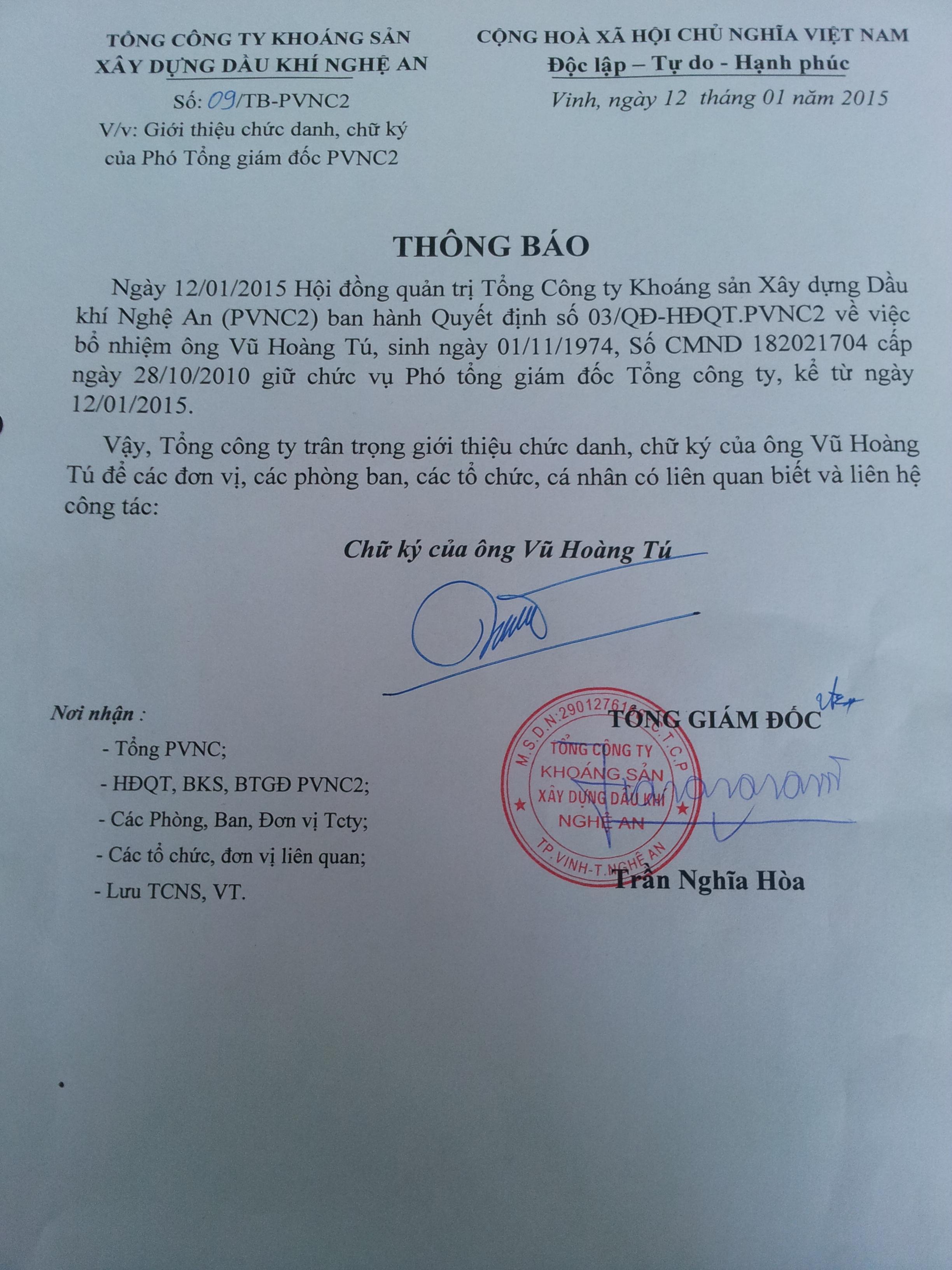 thong bao chu ky