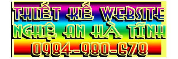 Thiết kế website chuyên nghiệp - Nghệ An Hà Tĩnh